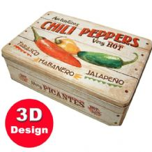 Chili Peppers - Embossed Storage Tin